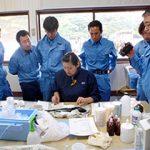 グループ養殖会社での魚病検査研修