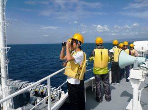 かごしま丸が北里大学の学生を対象とした共同利用乗船実習を実施しました