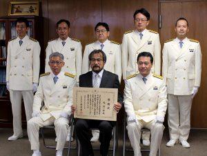第147回水路記念日に伴う海上保安庁長官表彰を西隆一郎教授が受賞しました