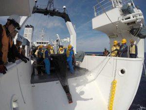 かごしま丸が九州大学の学生を対象とした共同利用乗船実習を実施しました
