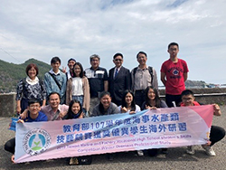 Students and teachers from Taiwan's Fisheries Vocational High School visited our Faculty