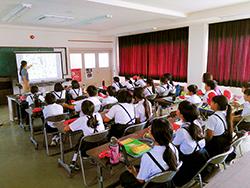 与論島で小学生を対象とした「海の環境教室」を開催しました